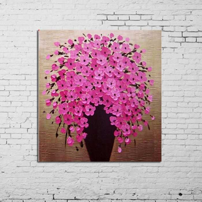 Big size modern100 handpainted abstract canvas art oil painting big size modern100 handpainted abstract canvas art oil painting beautiful knife oil painting pink flower wall decor painting in painting calligraphy from mightylinksfo