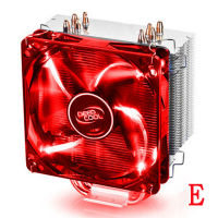 Dual Fan CPU Cooling Heatsink ultra quiet for Intel 1155 I3 I5 I7 AMD AM2/AM2+/AM3 desktop computer CPU heat pipe radiator Fans