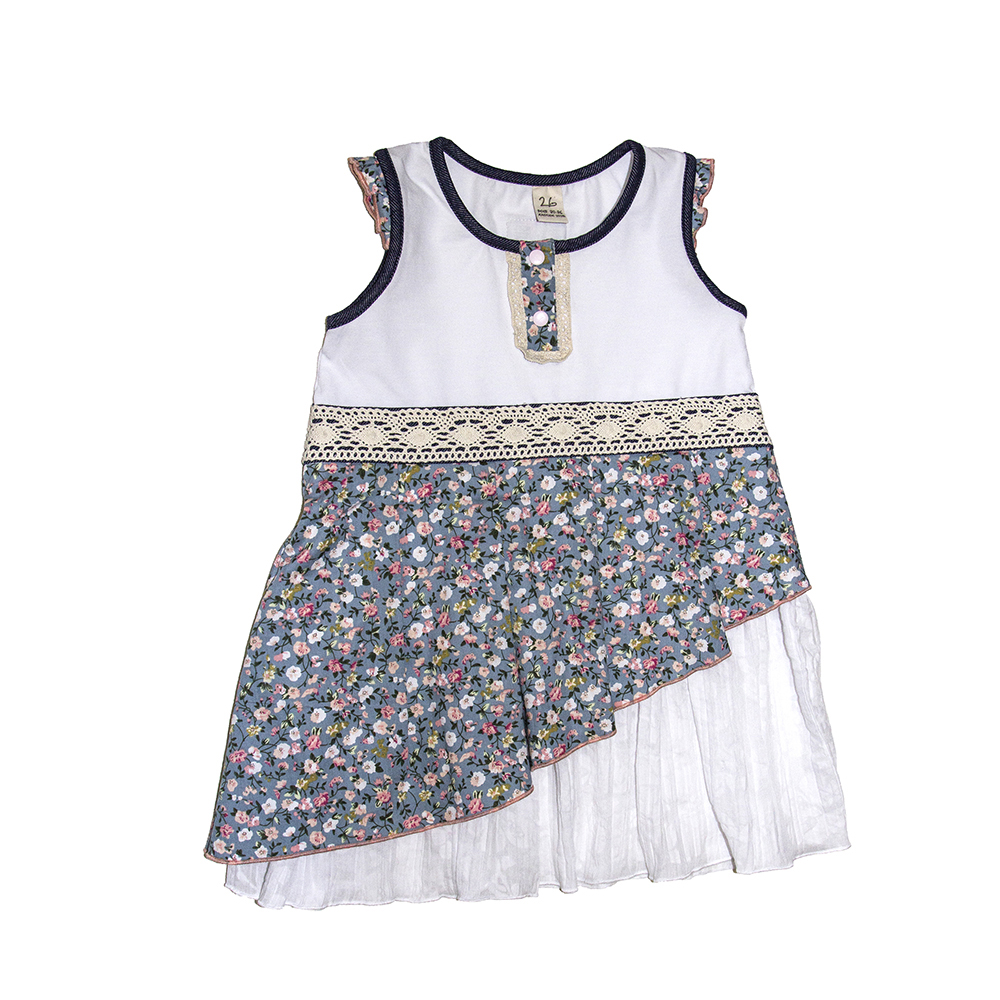 Dresses Lucky Child for girls 52-66 (24M-8T) Sundress Dress Children clothes eaboutique new fashion floral printed white girls winter dresses 2017 long sleeve full vestidos girls dress