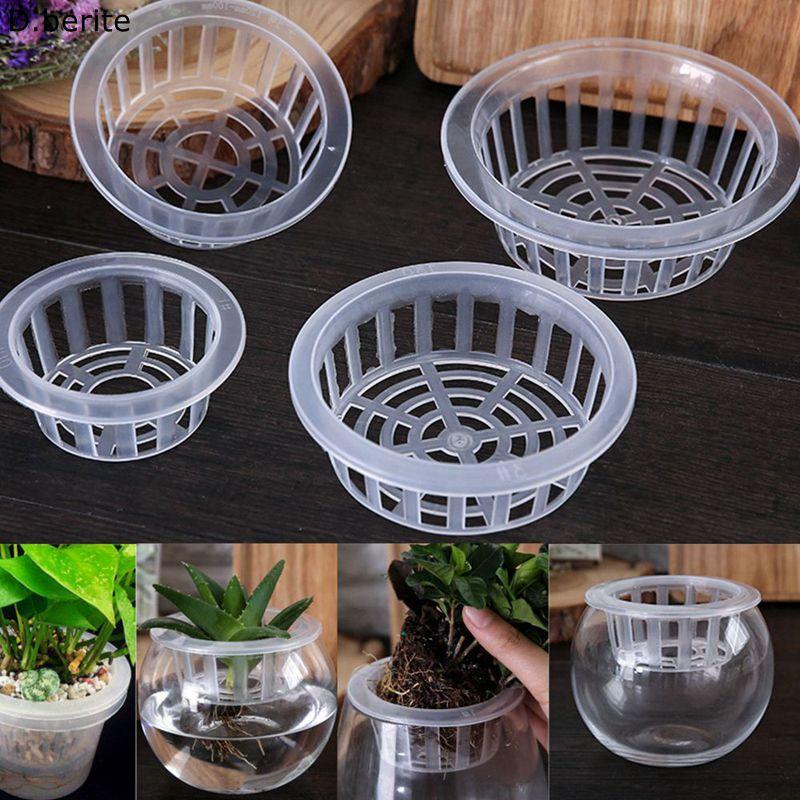 5pcs Plastic Mesh Pots Net Cloning Basket Hydroponic Aquarium Insert Plants Growth Flower Pot Tray Garden Supplies LNY9198