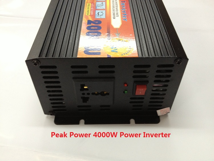 high capacity modified sine wave power inverter 2000W DC24V TO AC220V 2kw 2000w dc24v input to ac220v output modified wave power inverter for home use
