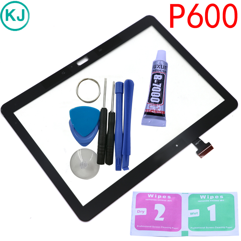 New P600 Touch Panel For Samsung Galaxy Note 10.1 P605 P601 Touch Screen Digitizer Sensor Glass touch screen stylus pen with 3 5mm anti dust plug for samsung galaxy note i9220 more red