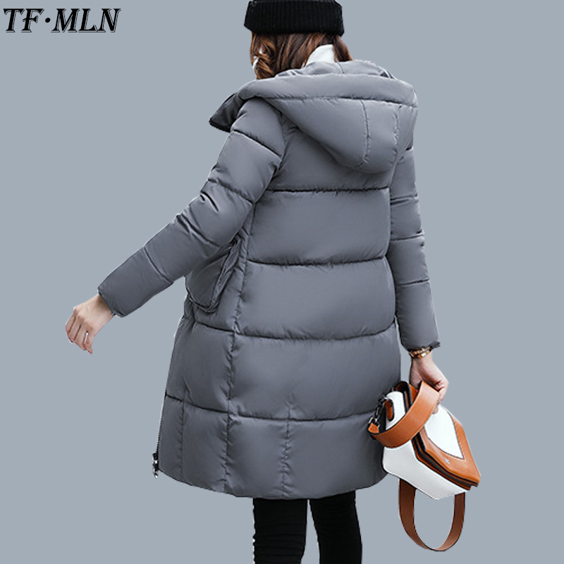 TFMLN 2017 Winter Long Coat Women Loose Thickened Warm Jacket Cotton Padded Zipper Cotton New Design Jacket Outwear Six Colors 2015 cotton padded elderly warm thickening long cotton padded jacket mens new single breasted wholesale zipper loose coat d10