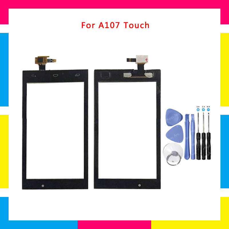 Replacement High Quality 4.5 For Micromax Canvas Fire 4 A107 SmartPhone Touch Screen Digitizer Sensor Outer Glass Lens Panel