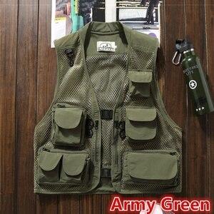 Image 3 - 초경량 낚시 조끼 빠른 건조 메쉬 전술 조끼 따뜻한 군사 캠핑 조끼 야외 남자 양복 조끼 멀티 포켓