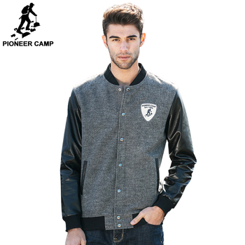 Pioneer Camp 2016 new autumn winter men jacket fashion cardigan coat Leather jacket baseball men bomber jacket 622022