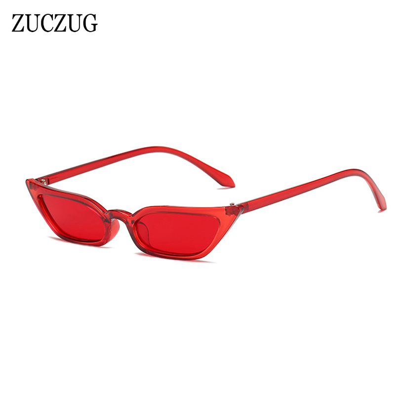 ZUCZUG Vintage Cat Eye Sunglasses Women Luxury Brand Design Sun Glasses Retro Small Red ladies Sunglass Black Eyewear oculos