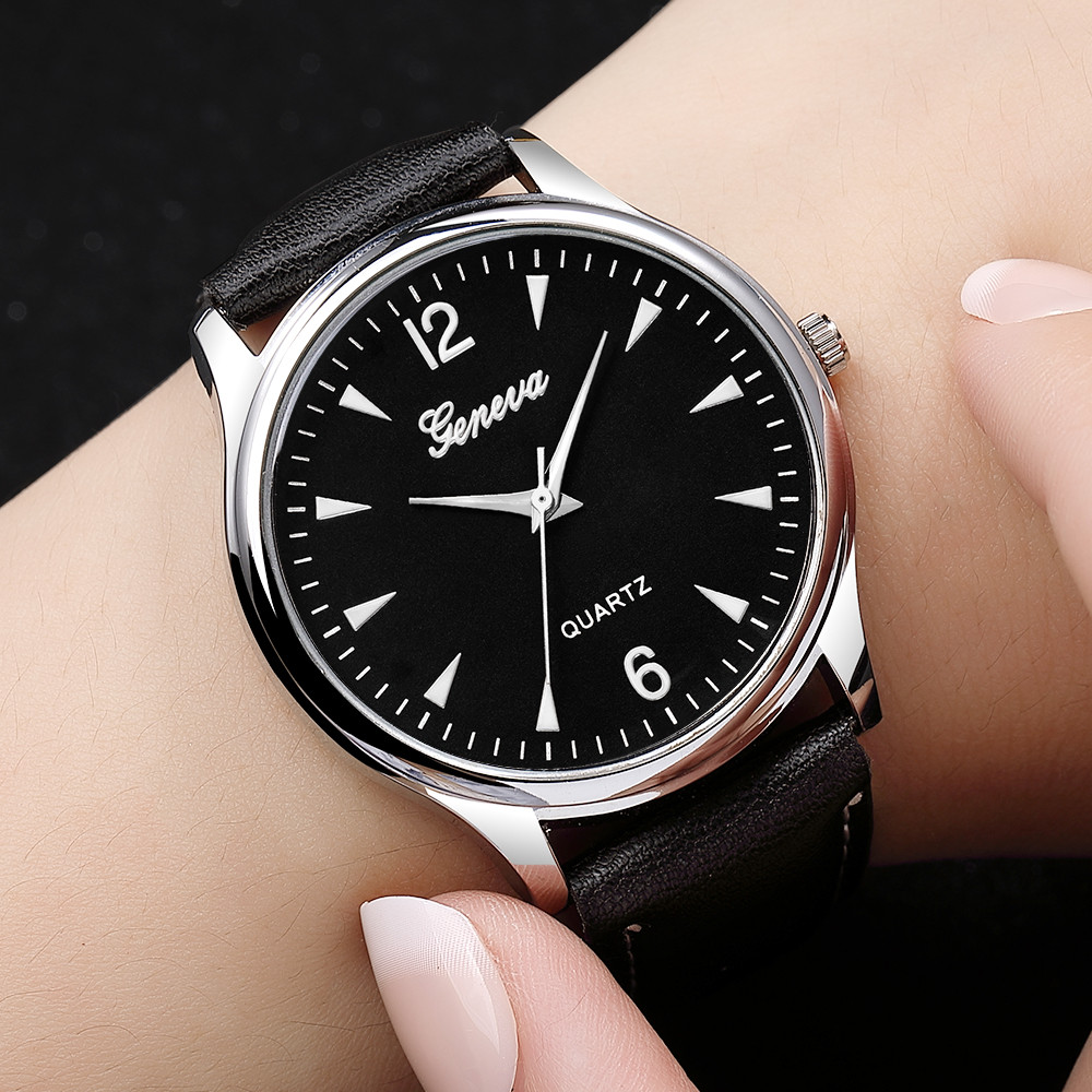 Mans Watch Luxury Fashion Faux Leather Blue Ray Glass Quartz Analog Reloj Hombre Mens Watches Top Brand Luxury Orologio Uomo