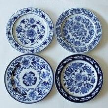 1 шт. китайский старинный фарфор синий и белый декоративные тарелки для подвесных тарелок ремесло как Декор стены