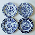 1 Piece Chinese Antique Porcelain Blue And White Plates For Hanging Plate Craft As Wall Decor