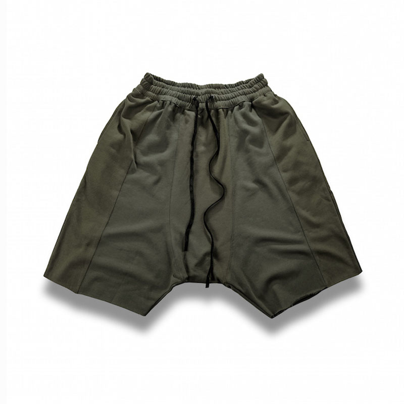 Hip Hop Raw Edges Wild Man Cozy Shorts 3