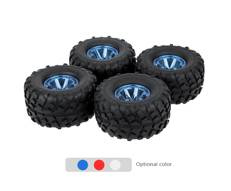 4pcs 1/10 RC Monster truck rubber tires tyres wheels diameter 130mm hex adaptor 12mm 140mm rubber rc 1 8 monster truck tires sponge insert hex hexagon adapter 17mm for rc off road model