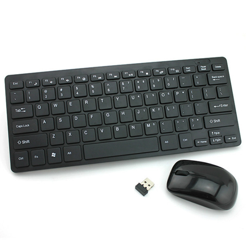 Wireless Keyboard Mouse 2.4Ghz Mini Portable Combo for Samsung Smart TV Desktop PC Win10 MAC Android iOS Wholesale Dropshipping|Keyboards| |  - title=