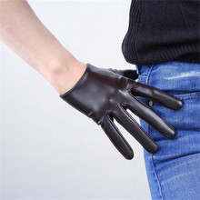 2019 Latest Ultra-Short Faux Leather Patent PU Womans Gloves Mirror Bright Basic Models 16cm P85
