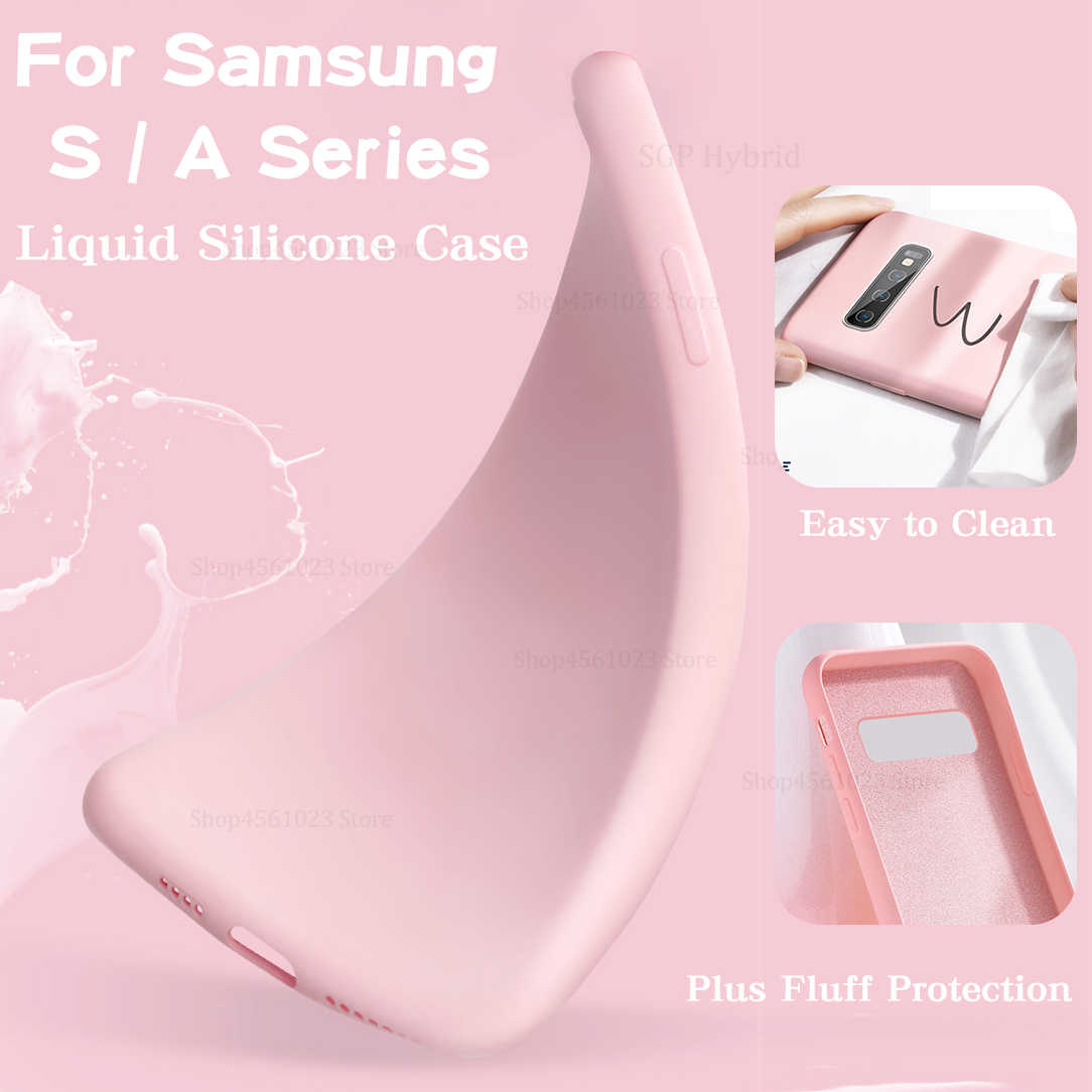 Back Cover Case For Samsung Galaxy S 10plus 10e 9plus 8 9 10 S8 S9 S10 Plus e S10e S10plus Original Soft Summer Protector Case