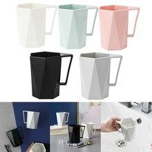 C uper простая в использовании креативная Геометрическая 1 шт. новая чашка персональная Молочный Сок лимонная кружка кофе чай многоразовая пластиковая чашка FO04