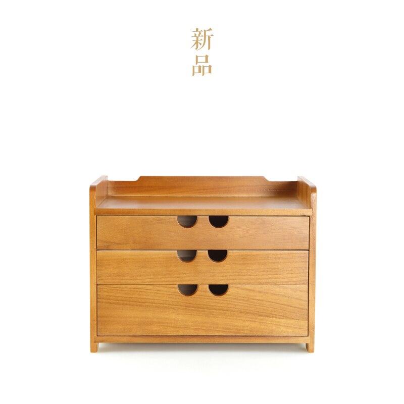 Japanese folk art wooden desk wood debris cosmetic storage box drawer jewelry retro office storage