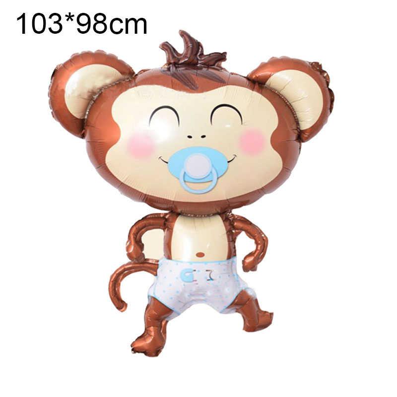 1 sztuk 103*98cm Big-mouched monkey balon balon aluminiowy chłopiec dziewczyna dekoracje na przyjęcie urodzinowe dostarcza baby shower zabawki dla dzieci prezent