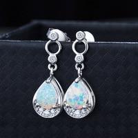 VENTA de La Manera joyería de Ópalo nuevo cristal de Swarovski 925 Pendientes de Plata Esterlina para Las Mujeres Blanco/oro Ópalo de Fuego pendientes