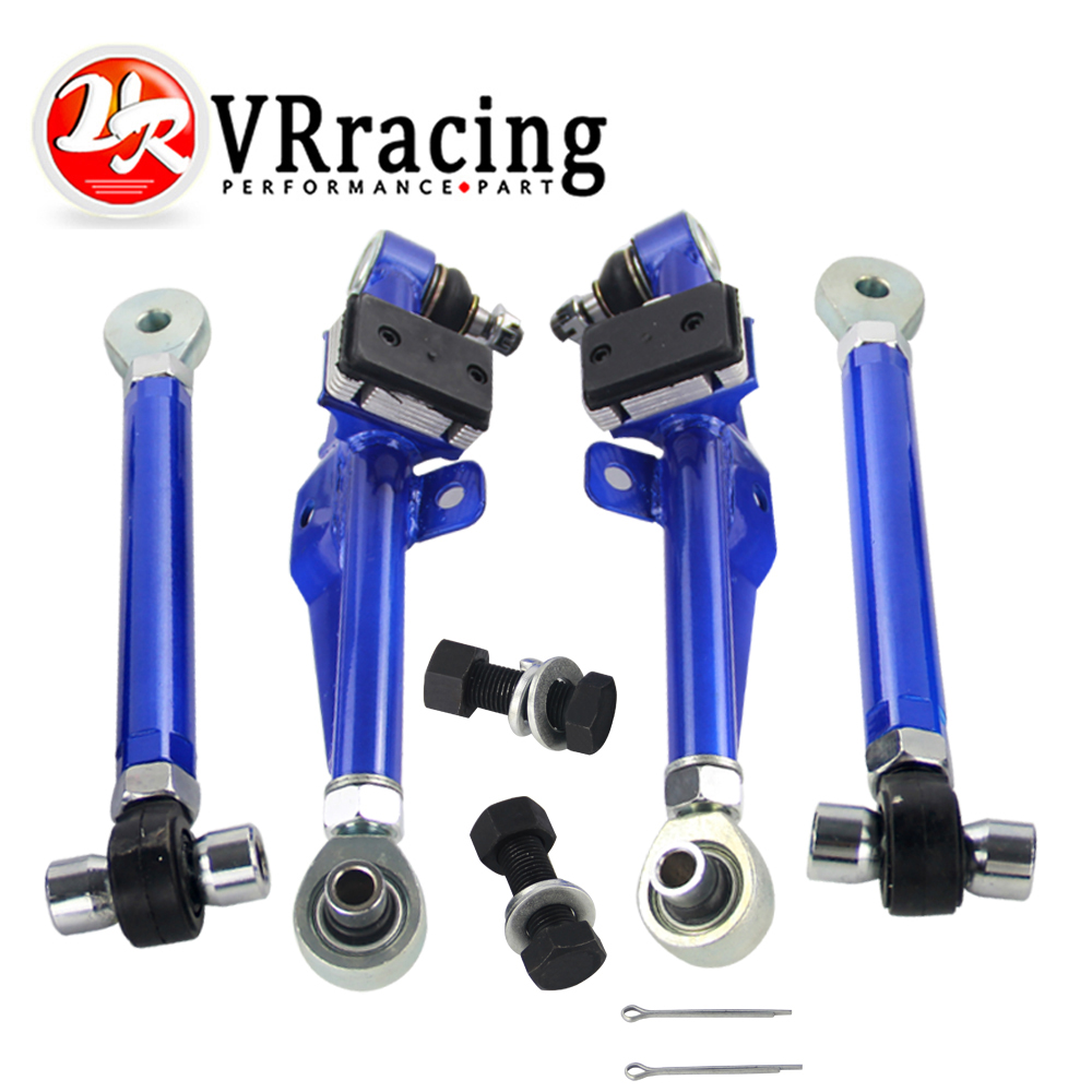 VR RACING - FRONT LOWER CONTROL ARM For NISSAN S13 Adj. Front Lower Control Arm - Blue Color VR9831B vr racing racing s14 adj front lower control arm blue only pair for nissan vr9832