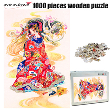 MOMEMO Tortoise and Girl 1000 Pieces Jigsaw Puzzle Adult Wooden Color Hand Painted Chinese Style Piece