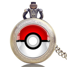 Anime Pokemon Go Theme Quartz Pocket Watch Chain Pendant