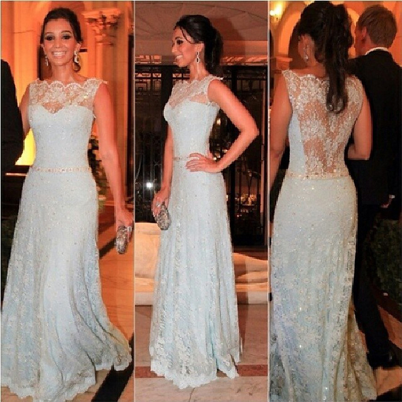 Aliexpress.com : Buy Light Blue Prom Dress Lace Prom Dresses 2015 ...