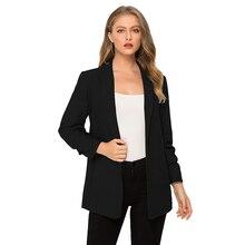 купить Escalier Women's  Casual Blazer Long Sleeve Lapel No Button Fashion Outerwear jacket дешево