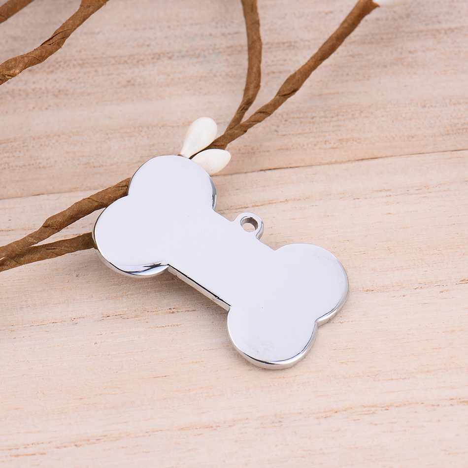 Dog Tag Stainless Steel Pet ID Dog Tags Dog Name Tel Tag Cat Dog Puppy Permanent Memory Pet Tags