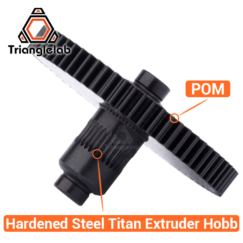 Trianglelab 3d printer Titan Extruder new metal gear Hobb (Hardened Steel) free shipping reprap mk8 i3 trianglelab 3d printer titan extruder new metal gear hobb hardened steel free shipping reprap mk8 i3