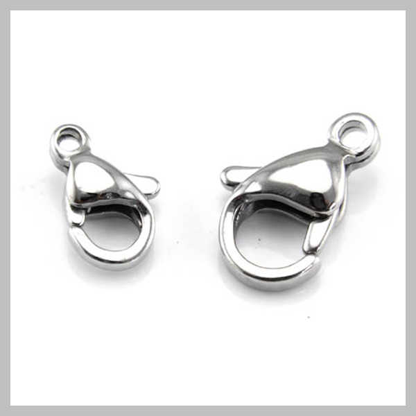Top Quality 316L Stainless steel claw clasp, Many sizes available, Lobster clasps, Jewelry DIY, SCA