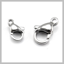 Top Quality 316L Stainless steel claw clasp, Many sizes available, Lobster clasps, Jewelry DIY, SCA(China)