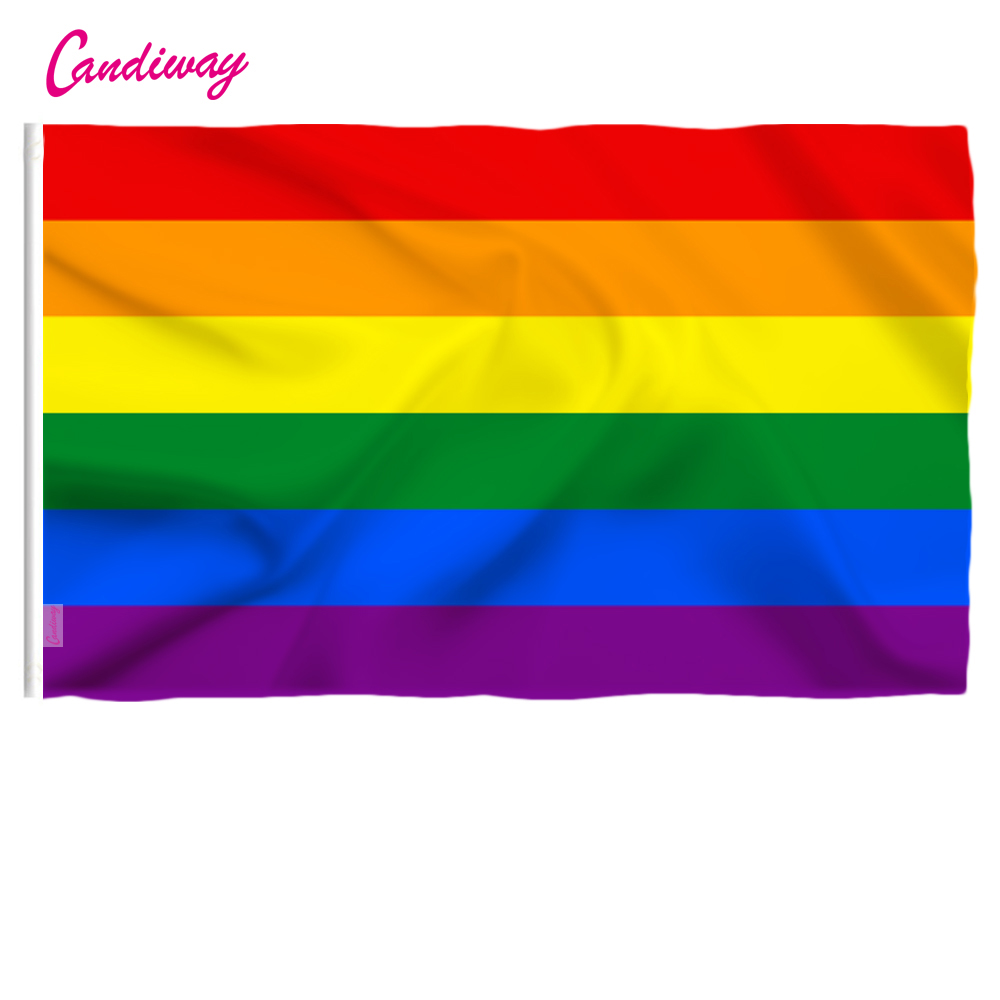 Rainbow Flag Bunting 20Rectangle Flags 18feet LGBT Gay Pride Parade Party Decors