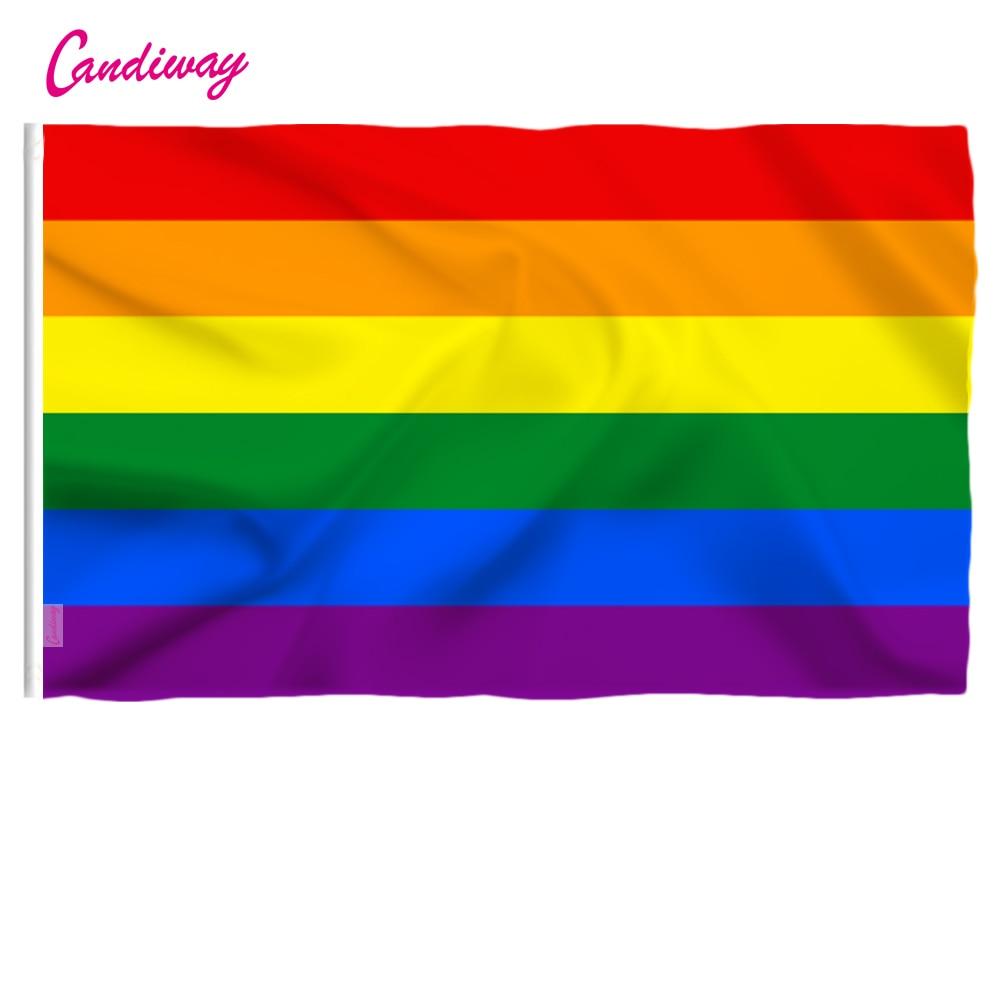 Радужный Флаг ЛГБТ 90 см x 60 см, 3*2 фута, стандартный флаг из полиэстера, флаги для геев, гордости, мира, для улицы и помещений