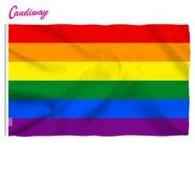 Lgbt bandeira de arco-íris, bandeira padrão de poliéster para orgulho gay, novidade de 90cm x 60cm, 3*2 pés área interna externa