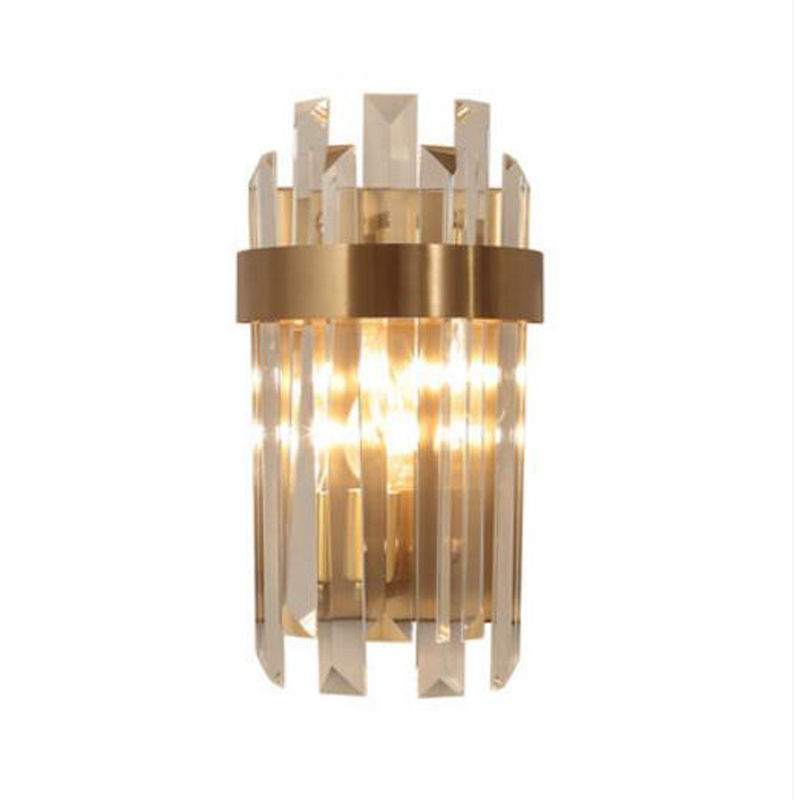 High Quality Luxury Crystal Wall Lamp Modern Sconce Lights Dia15*H38CM Lustre Living Room Bedroom Lamp