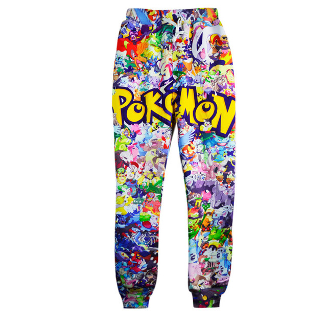 dc5773258ec8f3 Free Shipping New Fashion For Men/Women Baggy Jogger Pants 3D Print Pokemon  Cartoon Track Sweatpants Hip Hop Trousers