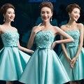 Demoiselle d'honneur Robe Rosa Damas de Honra Curto Turquesa Vestidos de Baile barato Vestidos de Verão vestidos de festa vestido de dama de honra