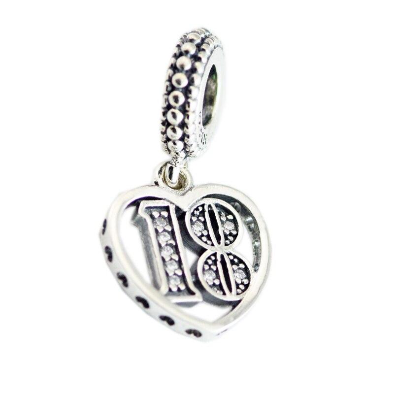 CKK 925 bijoux en argent Sterling 18 ans damour Dangle charme perles originales convient aux Bracelets pour la fabrication de bijouxCKK 925 bijoux en argent Sterling 18 ans damour Dangle charme perles originales convient aux Bracelets pour la fabrication de bijoux