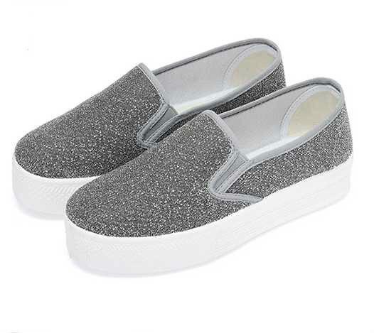 2017 Nuevos Zapatos Planos de Las Mujeres Ocasionales del Slip-en Los Zapatos de Plataforma Zapatillas Loneta Mujer Damas Schoenen Sapatilha Feminina Zapatos Mujer
