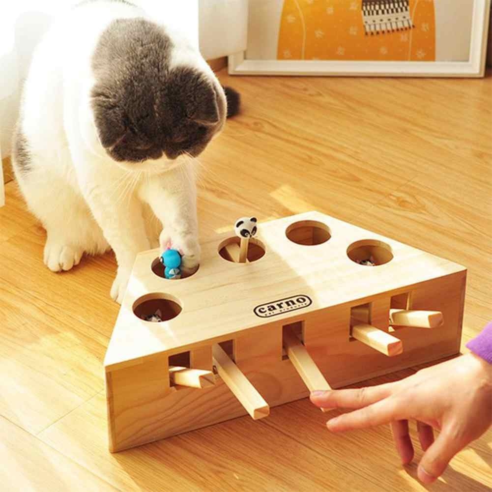 Ни один твердые деревянные игрушки Ударные хомяки для кошки домашних животных