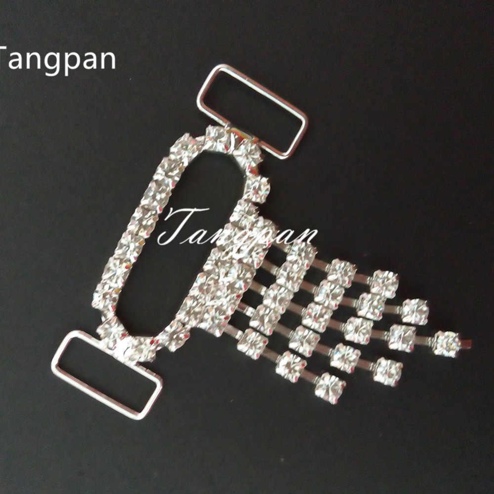 Tangpan 2 pièces Gland Diamant Cristal Strass Bikini Connecteurs Sac Boucle Chaussures Chaîne Maillots De Bain Maillot De Bain String Connecteur