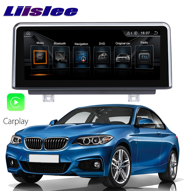 LiisLee Car Multimedia GPS Audio Hi Fi Radio Stereo For BMW 2 Series F22 F45 MPV 2014~2018 Original NBT Style Navigation NAVI