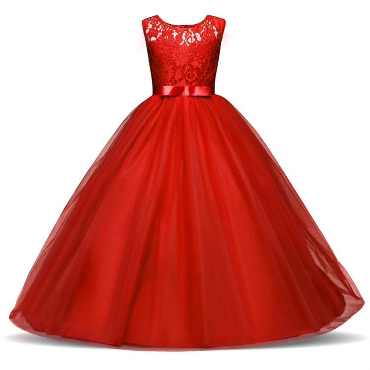 d29abd8eaa0 ... Girls 5-14 years. Children Lace Pageant Princess Girl Dress for Wedding  Birthday Party Teenage Girl Kids Evening Prom Dresses