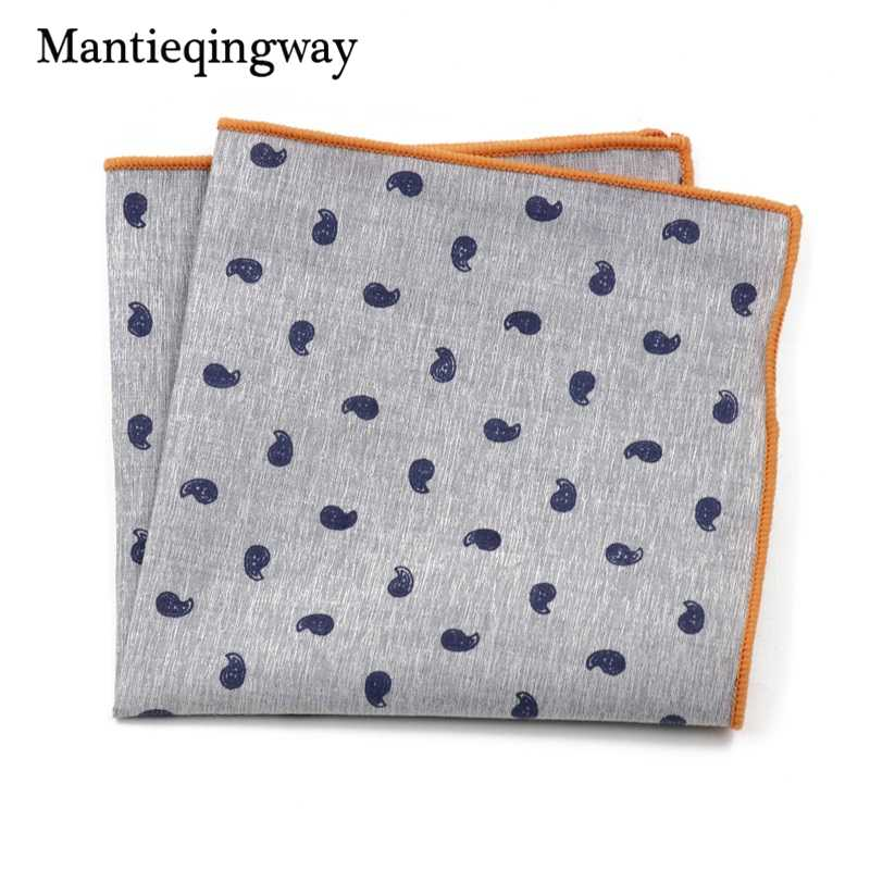 5eae58a95f6b Men's Suits Cotton Handkerchiefs Woven Floral Printing Pocket Square  Hankies Men's Business Casual Square Pockets Hanky