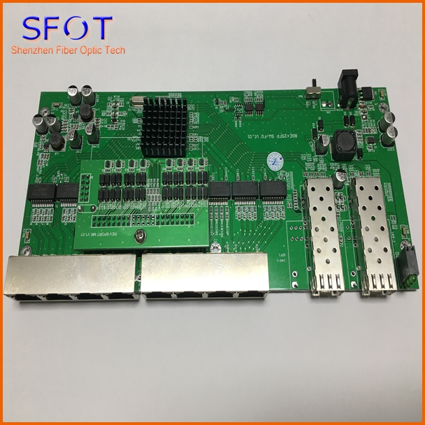 8pcs POE reverse Switch board without management, 2 Port SFP + 8 PortS GE Rj45 Operational PD switch, with VLAN on/off button8pcs POE reverse Switch board without management, 2 Port SFP + 8 PortS GE Rj45 Operational PD switch, with VLAN on/off button