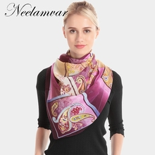 Neelamvar 2018 fashion scarves Autumn thin silk scarf women long shawl hijab  muslim lady wrap cachecol feminino