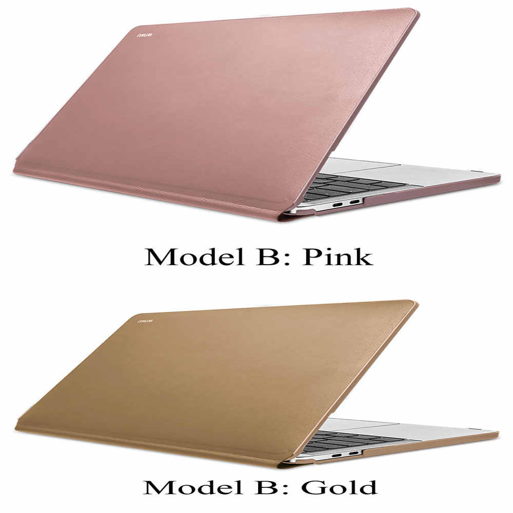 WiWU Ordinateur Portable étui pour macbook Pro Air 13 A1706 A1708 A1989 A1932 pouces Étanche En Cuir PU Rigide étui pour macbook Pro 13