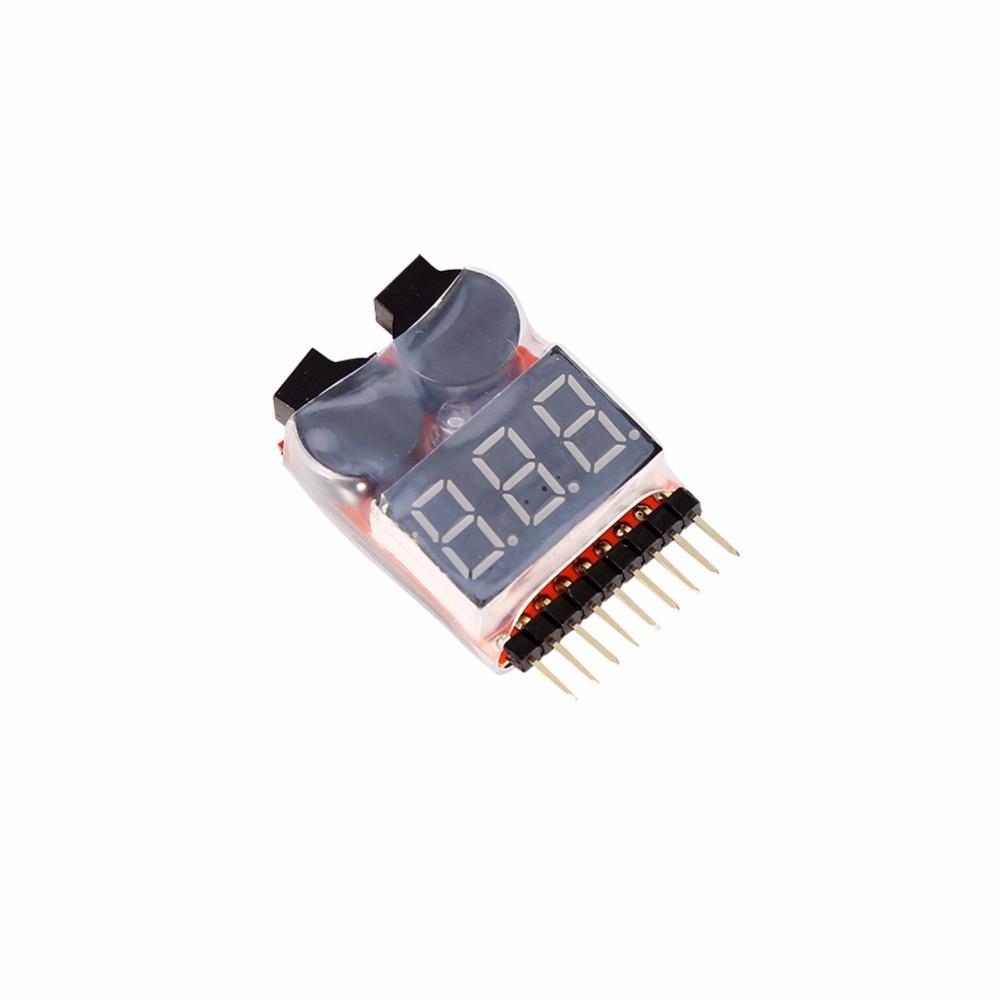 Lipl/Li-ion/LiMn/Li-Fe 1-8S Buzzer Alarm RC Lipo Battery Low Voltage Buzzer Alarm Indicator Checker Tester LED D2  цены