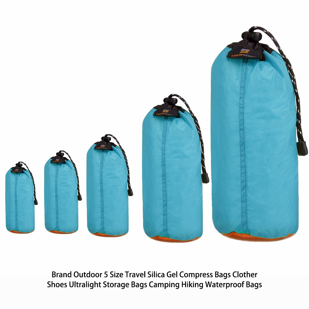 Ultralight  OutdoorCamping swimming Hiking Travel Silica dry bag for Clother Shoes green,blue Storage Bag  Waterproof Bags 5 Siz
